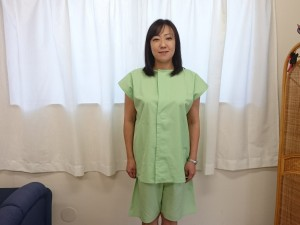 女性専用患者着の写真 正面